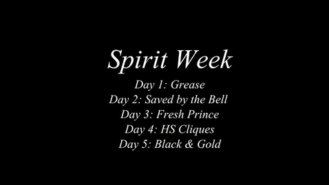 Thumbnail for entry Spirit Week 2014