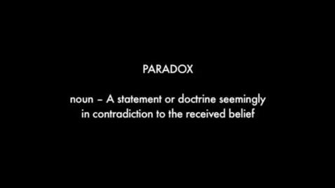 Thumbnail for entry PARADOX – BrainFlix.com Vocab Contest