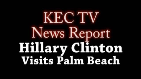 Thumbnail for entry KEC TV Student Report:Hillary Clinton Campaigns for Obama