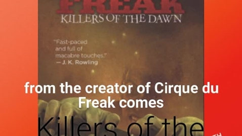 Thumbnail for entry Marco Aguilera's Cirque Du Freak: Killers of the Dawn Book Trailer