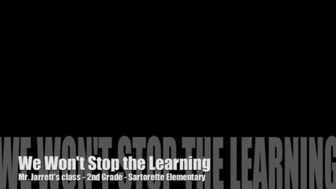 Thumbnail for entry We Won't Stop The Learning - Matt Jarrett