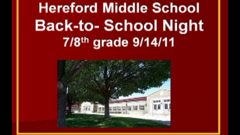 Thumbnail for entry Back-to-School Night HMS 9/14/11
