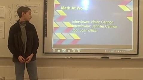 Thumbnail for entry Nolan C math career