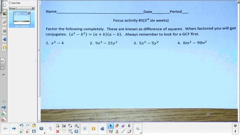 Thumbnail for entry Characteristics of quadratics lesson pt 2   12-1-14
