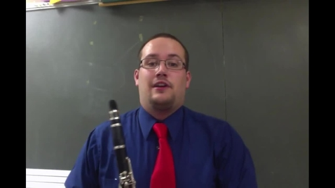 Thumbnail for entry Clarinet - Making your first sound and holding the instrument