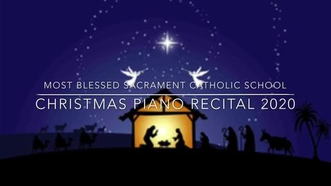 Thumbnail for entry Christmas Piano Recital 2020