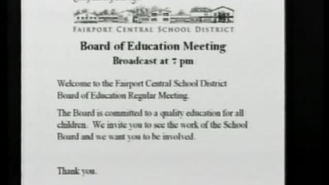 Thumbnail for entry FCSD Board of Education Meeting - November 2010