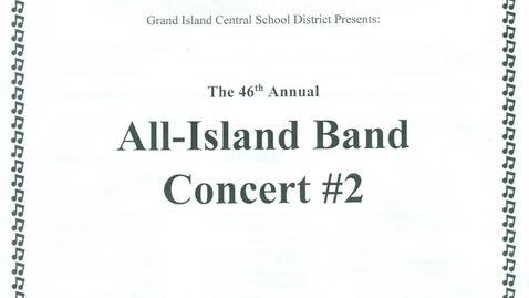 Thumbnail for entry All-Island Band Concert Two 3-2-2020