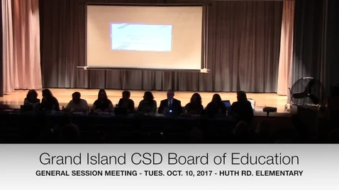Thumbnail for entry Grand Island CSD Board of Education Tues 10-10-2017