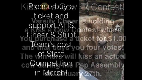 Thumbnail for entry Amphi Cheer Fundraiser, KISS THE COW!