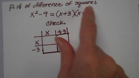Thumbnail for entry Difference of Squares P. 14