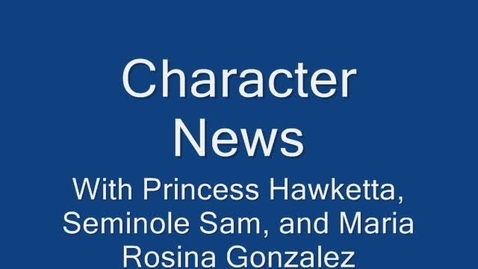 Thumbnail for entry Character News January 25, 2010