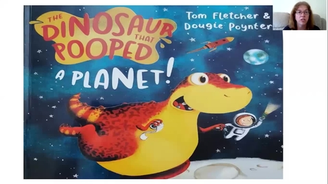 Thumbnail for entry The Dinosaur that pooped a planet read by Mrs Rowley