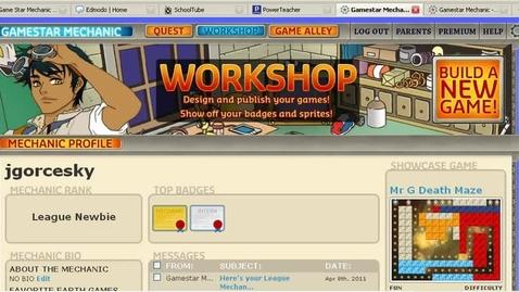 Thumbnail for entry Gamestar Mechanic Tutorial - Share your game on Edmodo