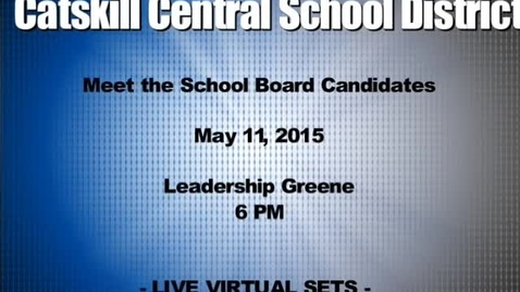 Thumbnail for entry Meet the Candidates 2015