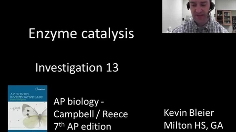 Thumbnail for entry Investigation 13 - enzyme catalysis (with colorimeters)