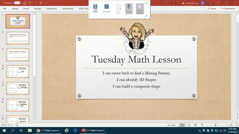Thumbnail for entry Tuesday 5-19 math lesson
