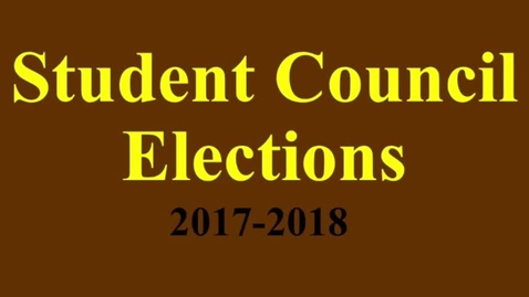 Thumbnail for entry 2017-2018 Student Council Video