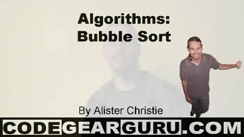 Thumbnail for entry Algorithms #1 - Bubblesort
