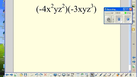 Thumbnail for entry Multiplying monomials by monomials example 3