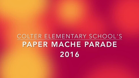 Thumbnail for entry Paper Mache Parade 2016