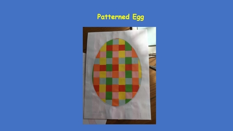 Thumbnail for entry Making an egg picture