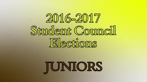 Thumbnail for entry MDN Student Council Elections 2016 - 2017 - Junior Class