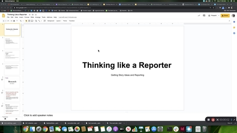Thumbnail for entry Thinking and Working Like a Reporter