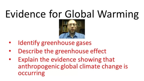 Thumbnail for entry Evidence for Global Warming