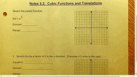 Thumbnail for entry 5.2 Cubic Functions and Translations