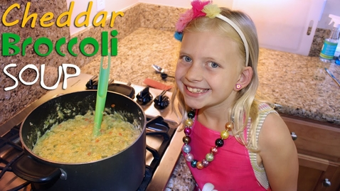 Thumbnail for entry Family Fun Pack Kid Size Cooking: Broccoli Cheddar Soup
