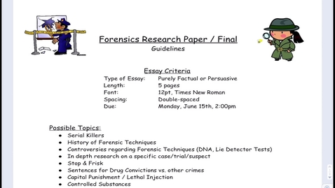 Thumbnail for entry Forensic Research Paper Guidelines