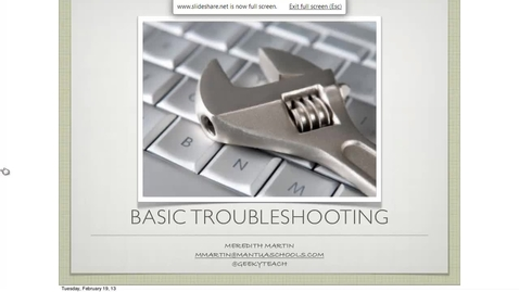 Thumbnail for entry Basic PC Troubleshooting
