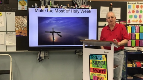 Thumbnail for entry Holy Week Opening