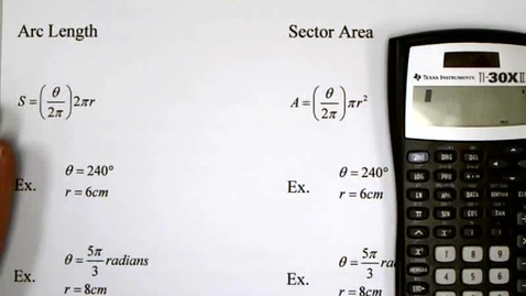 Thumbnail for entry 6-1 Arc Length and Sector Area
