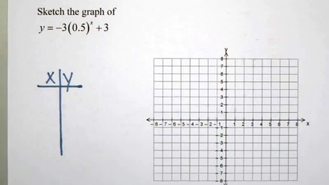 Thumbnail for entry 9-1 Graphing Exponential Functions D