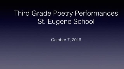 Thumbnail for entry Poetry Performance