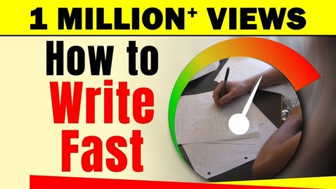 Thumbnail for entry How to Write Fast With Good Handwriting? | Exam Tips For Students | LetsTute