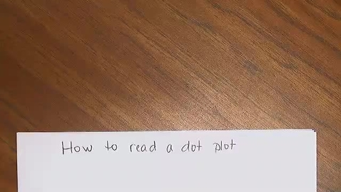 Thumbnail for entry How to read a dot plot