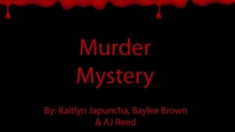 Thumbnail for entry Murder Mystery - WSCN PTV 3 (2017/2018)