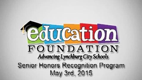 Thumbnail for entry 2015 Senior Honors Recognition Program