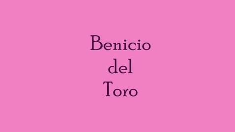Thumbnail for entry Benicio del Toro