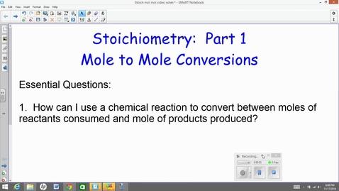 Thumbnail for entry mole to mole stoichiometry