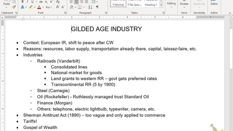 Thumbnail for entry APUSH Review 10: Gilded Age Industry/Cities