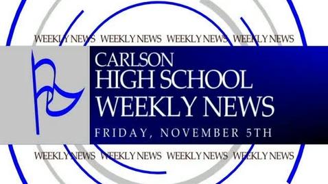 Thumbnail for entry Carlson November 5 News