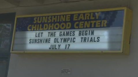 Thumbnail for entry Sunshine Early Childhood Center Olympic Trials