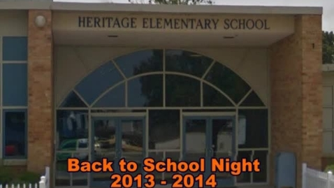 Thumbnail for entry Heritage Elementary School Back to School Night