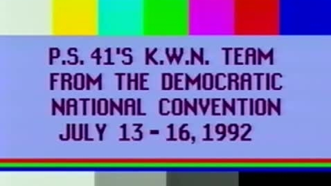 """Thumbnail for entry (1992) KWN covering """"The 1992 Democratic National Convention"""" in New York City"""".mp4"""