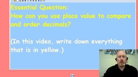 Thumbnail for entry Ordering Decimals