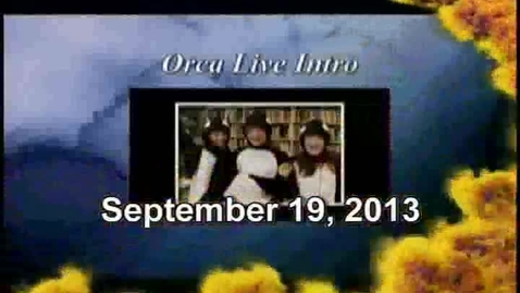 Thumbnail for entry Orca Live September 19, 2013
